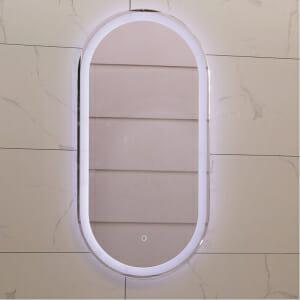 Овално огледало с вградено LED осветление