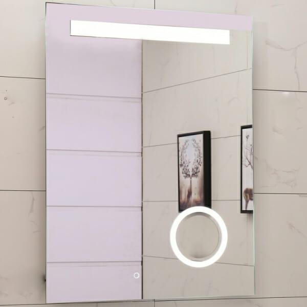Правоъгълно LED огледало за баня