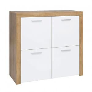 Шкаф с 4 бели гланцирани вратички Балдер