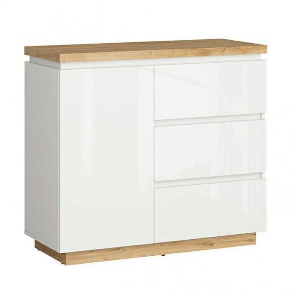 Шкаф с вратичка и 3 чекмеджета Ерла