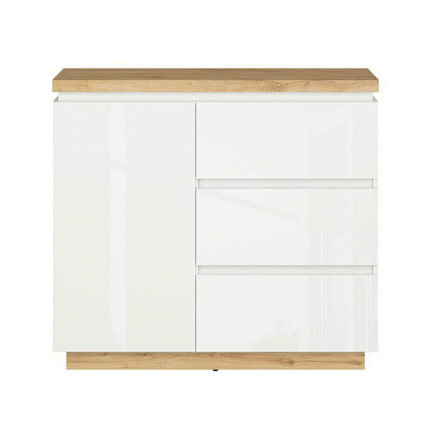 Шкаф с вратичка и 3 чекмеджета Ерла - отпред