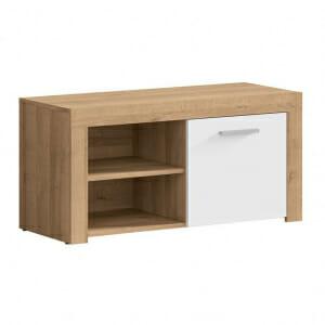 Шкаф за обувки в дървесен цвят и бяло Балдер