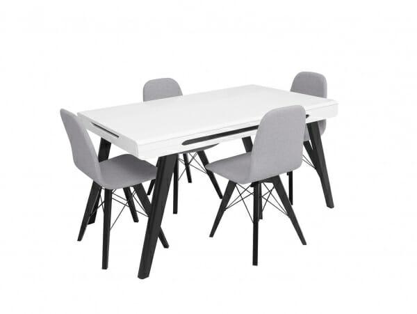 Сив трапезен стол Ацтека с маса