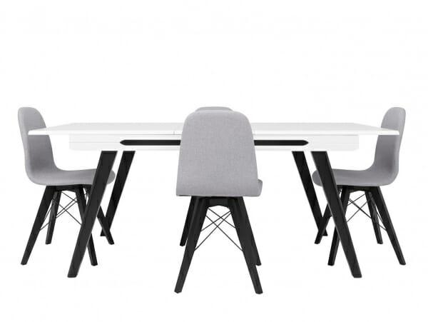 Сив трапезен стол Ацтека с разтегната маса