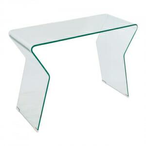 Стъклена конзолна маса с нестандартна форма