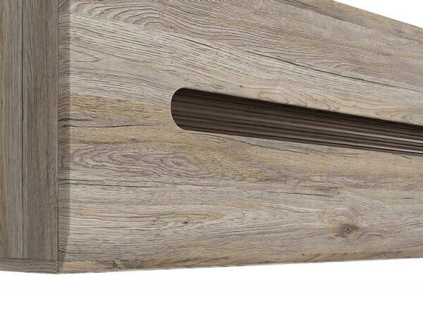 Стенен шкаф с декоративна лента - дъб сан ремо - детайл