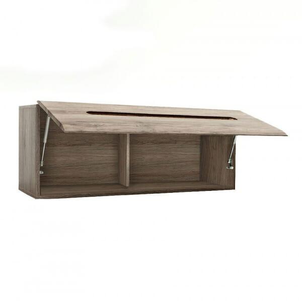 Стенен шкаф с декоративна лента - дъб сан ремо - разпределение