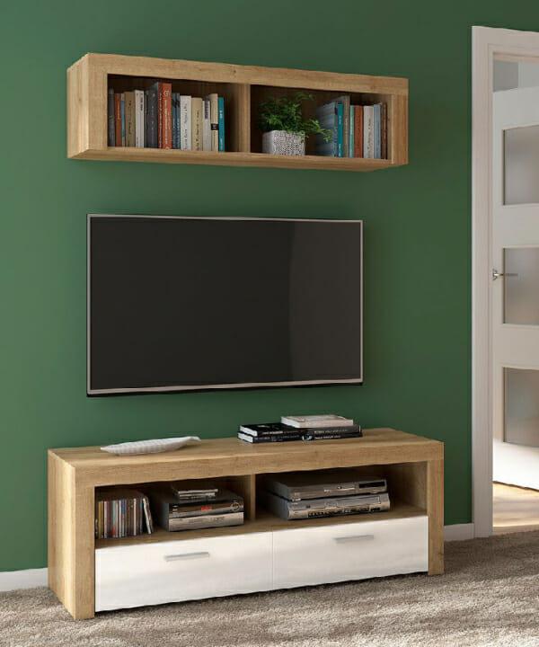 Стенна етажерка и ТВ шкаф Балдер - декор