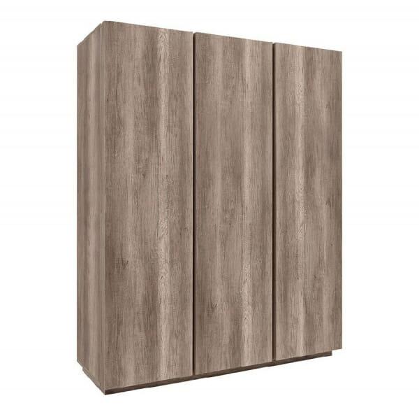 Трикрилен гардероб в дървесни тонове Антика