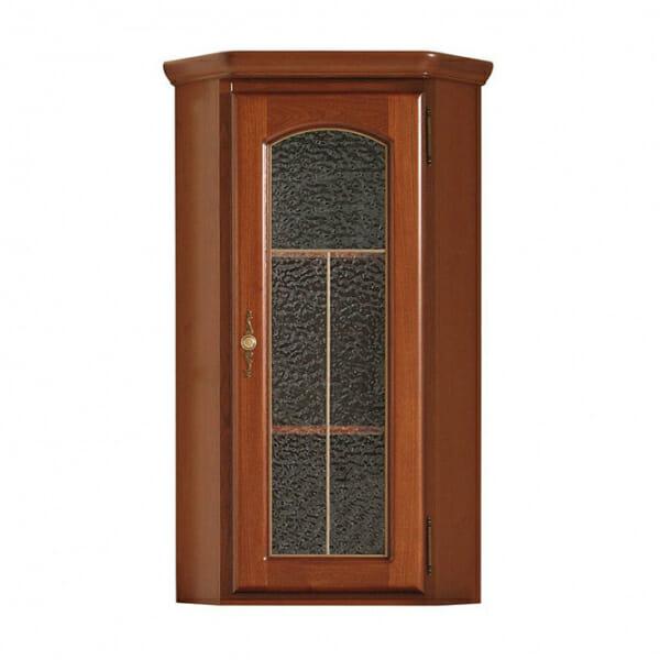 Ъглов стенен шкаф с витрина Бавария