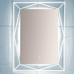 Вертикално LED огледало с красива рамка