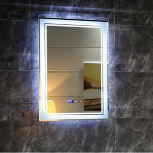 Вертикално огледало за баня с LED осветление