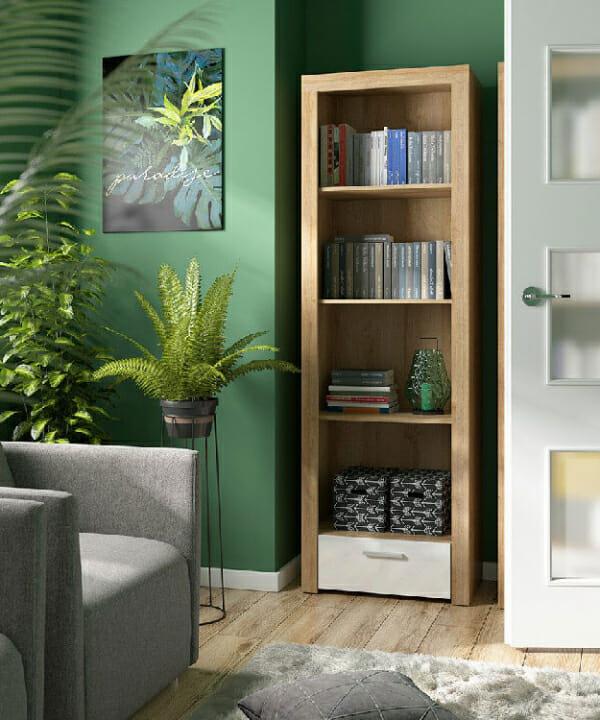 Висок шкаф с 4 oткрити рафта Балдер - декор