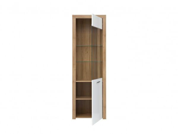 Висок шкаф с витрина и осветление Балдер - разпределение