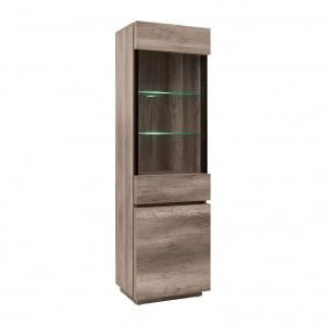 Висок шкаф витрина с LED осветление Антика