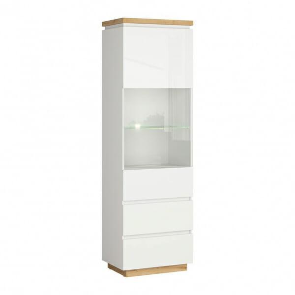 Висок шкаф витрина с осветление Ерла