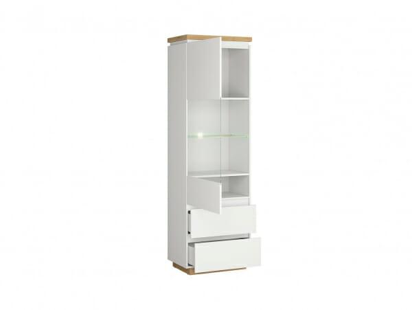 Висок шкаф витрина с осветление Ерла - разпределение