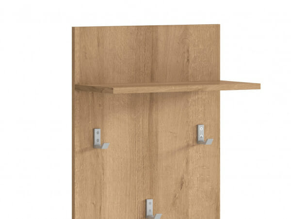 Закачалка за антре в дървесен цвят Балдер - детайл