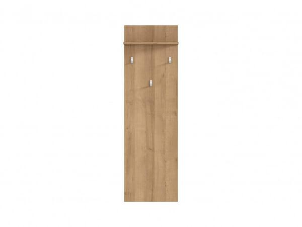 Закачалка за антре в дървесен цвят Балдер - отпред