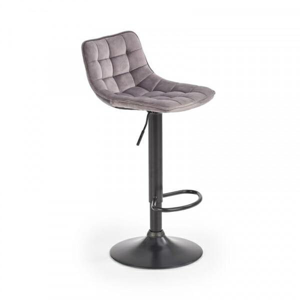 Бар стол с метална основа и текстилна дамаска (2 цвята)