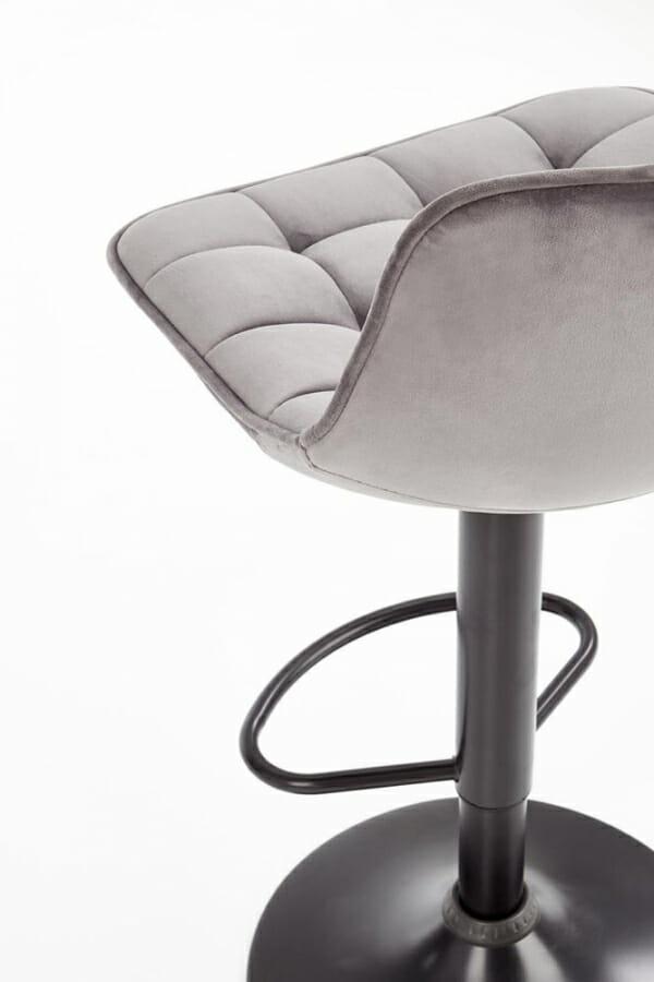 Бар стол с метална основа и текстилна дамаска (2 цвята) - гръб