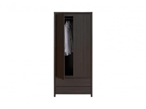Двукрилен гардероб Каспиан Венге отпред - разпределение