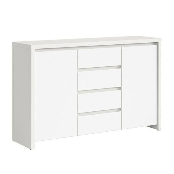 Функционален широк шкаф Каспиан Бял