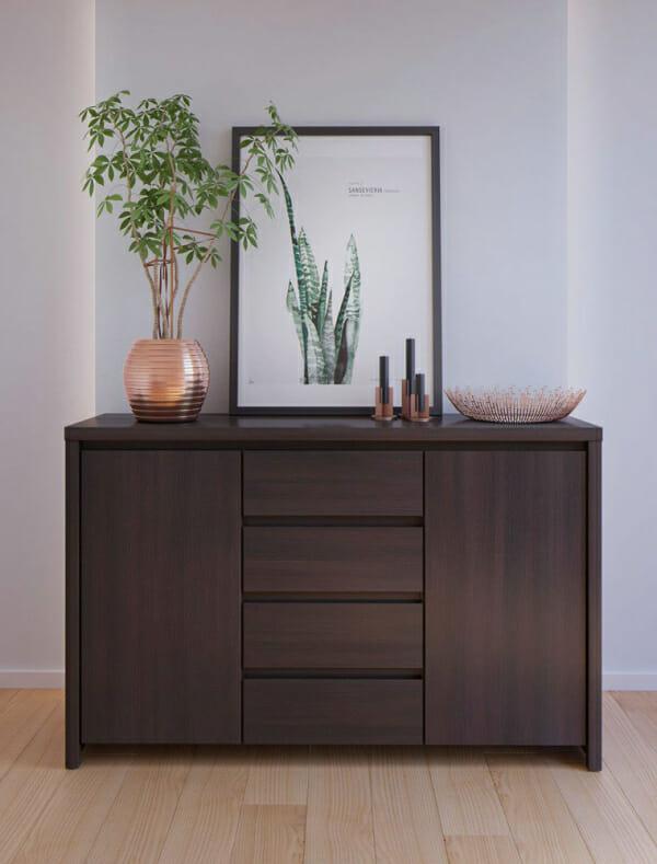 Функционален широк шкаф Каспиан Венге - декор