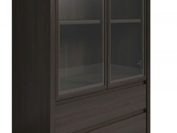 Голям шкаф витрина Каспиан Венге - детайл
