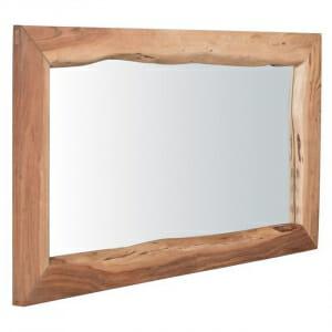 Голямо огледало с рамка от акациево дърво-размер 1