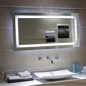 Голямo правоъгълно огледало с LED осветление