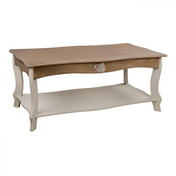 Холна маса във винтидж стил серия Мелани - в цвят екрю