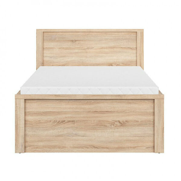 Легло с място за съхранение Каспиан Дъб - размер 1 - отпред