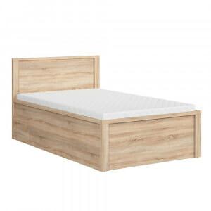Легло с място за съхранение Каспиан Дъб - размер 1 с чекмедже