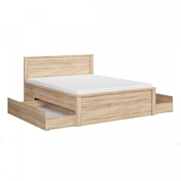 Легло с място за съхранение Каспиан Дъб - размер 2 с чекмедже - разпределение