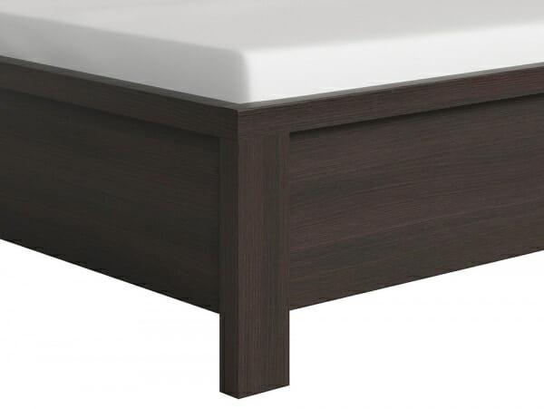 Легло в тъмен дървесен цвят Каспиан Венге - детайл краче