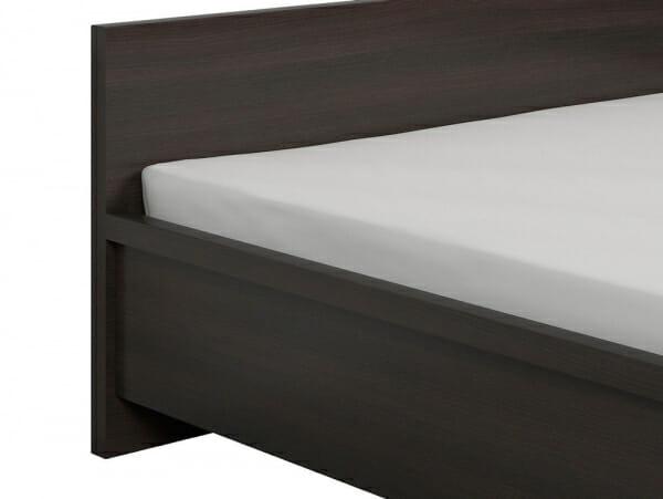 Легло в тъмен дървесен цвят Каспиан Венге - детайл табла
