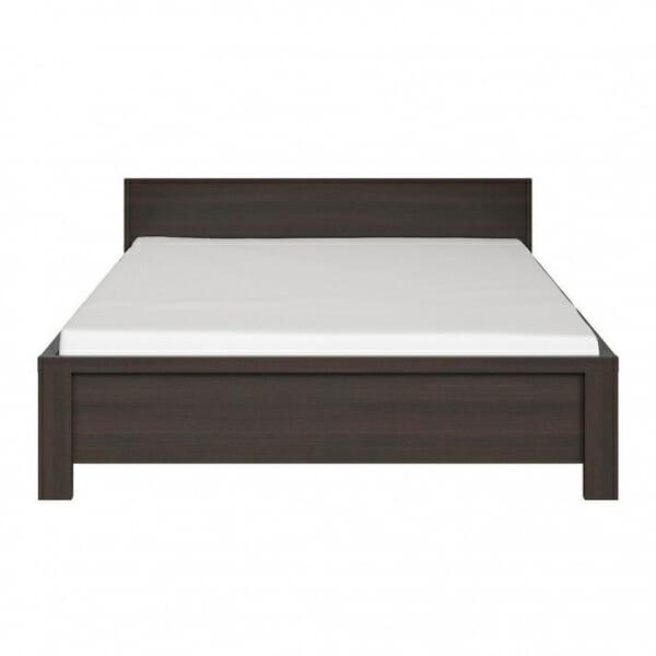 Легло в тъмен дървесен цвят Каспиан Венге - отпред