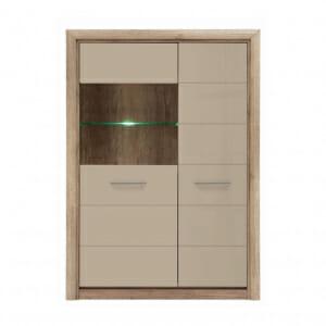 Модерен шкаф витрина с LED осветление Коен