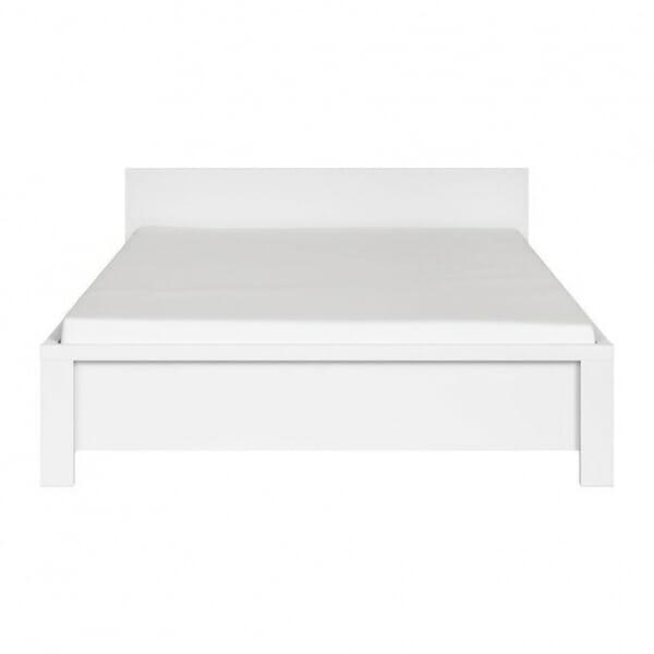 Модерно легло в бяло Каспиан Бял - 140х200 - отпред