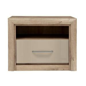 Модерно нощно шкафче в земни тонове Коен