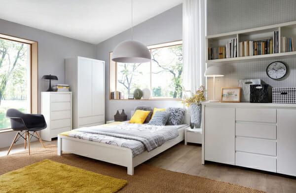Модулна система Каспиан Бял за спалня