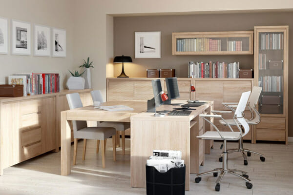 Модулна система Каспиан Дъб за домашен офис