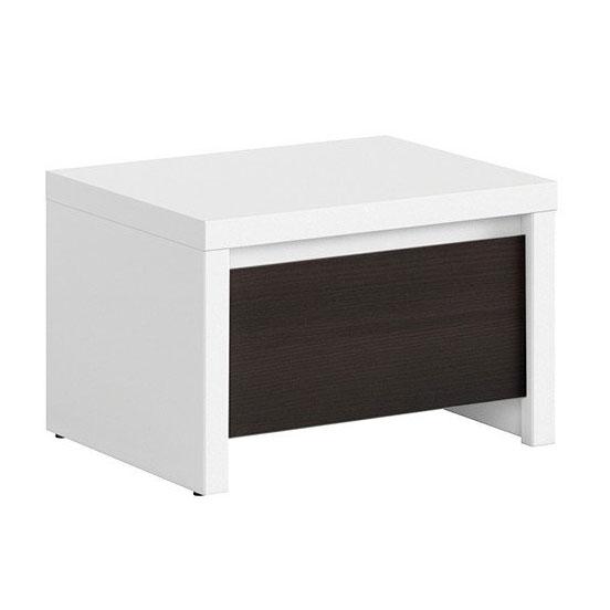 Нощно шкафче с чекмедже Каспиан Венге с бял корпус