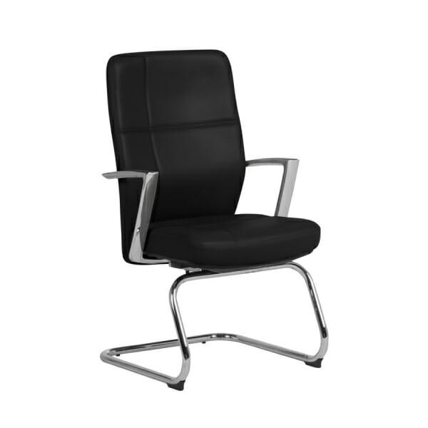 Посетителски офис стол от естествена кожа (2 цвята)