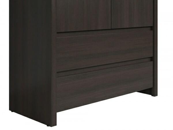 Практичен шкаф с чекмеджета Каспиан Венге - детайл