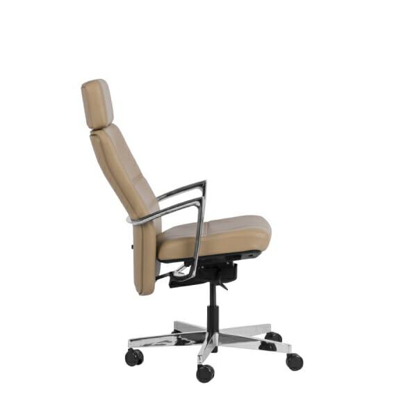 Президентски офис стол от естествена кожа - наклон