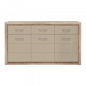 Широк шкаф с 3 чекмеджета и 3 вратички Коен