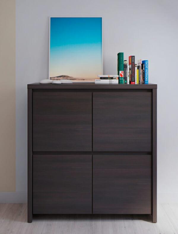 Шкаф с 4 вратички Каспиан Венге - декор