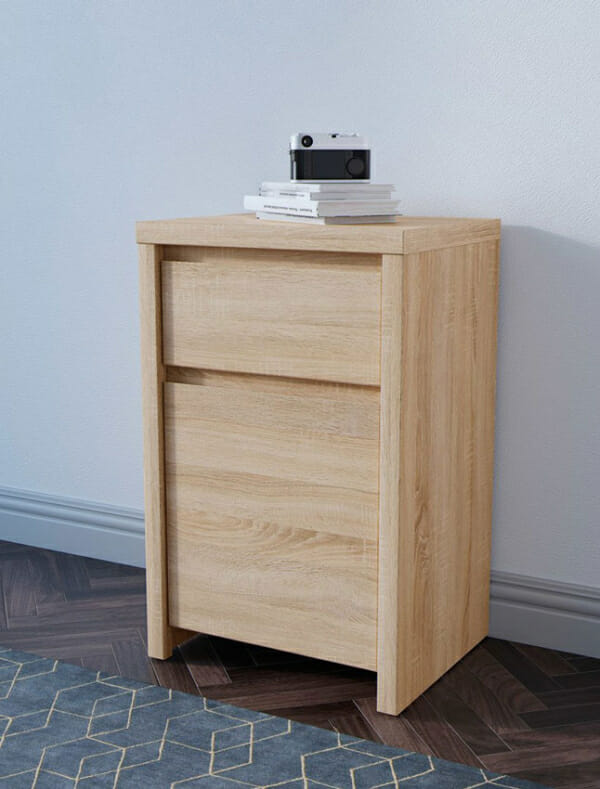 Шкаф за антре в дървесен цвят Каспиан Дъб - декор